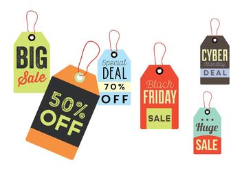 Sale Tag Label Vectors - Free vector #161077