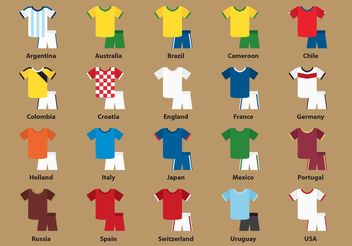 International Sport Jersey Vectors - Free vector #161087