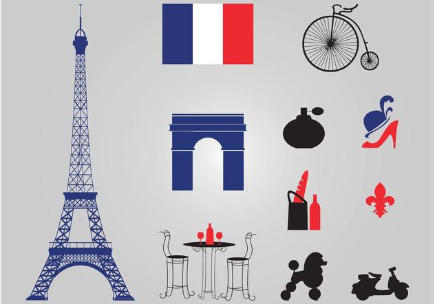 Paris Vectors - Free vector #161157