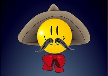 Sombrero Smiley - Free vector #161167
