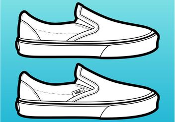 Vans Shoes Vector - бесплатный vector #161207