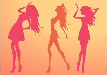 Silhouette Vector Girls - vector gratuit #161227