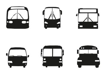 Free Vector Bus Car Silhouette Front - Free vector #161307