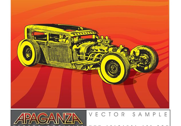 Hotrod Car Vector - бесплатный vector #161347