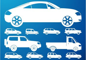 Car Silhouettes Set - vector #161357 gratis