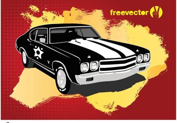 Retro Car Vector - Free vector #161367