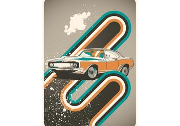 Poster Cars Retro Vector - бесплатный vector #161707