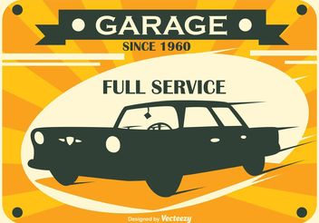 Retro Sar Service Vector Sign - Free vector #161727