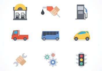 Free Car Services Vector Icons - vector gratuit #161737