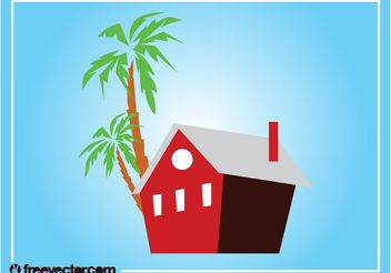 Tropical House Graphics - Free vector #161807