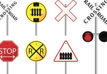 Rail Road Vector Signs - бесплатный vector #161847