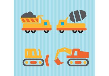 Construction Vector Vehicles - бесплатный vector #162057