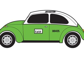 Taxi (Mexico City Cab) Vector - бесплатный vector #162117