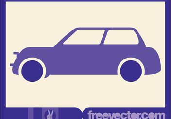 Purple Vector Car - vector gratuit #162167