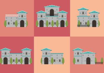 Mansion Vectors - vector gratuit #162177