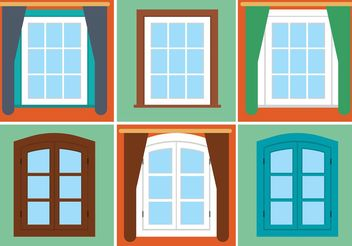 Free Vector Vintage Window Set - Kostenloses vector #162207