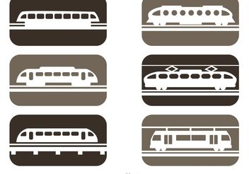 Vector Rail Trains Icons - vector gratuit #162217