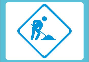 Dig Sign - Free vector #162227