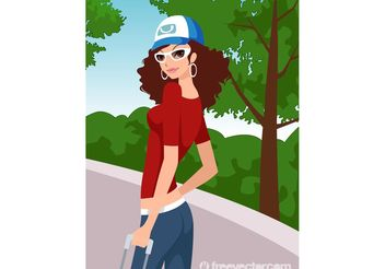 Travel Girl - vector gratuit #162317