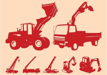 Construction Vehicles Graphics - Kostenloses vector #162337