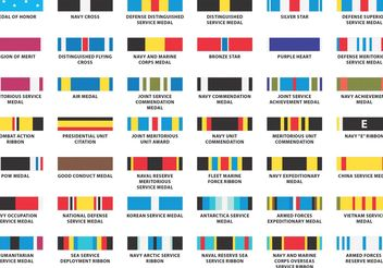 US Navy Ribbon Vectors - vector #162427 gratis