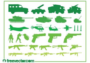 Military Vehicles Weapons Graphics - vector gratuit #162437