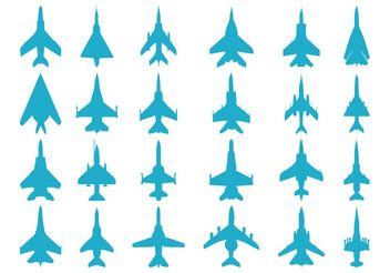 Airplanes Silhouettes - Free vector #162487