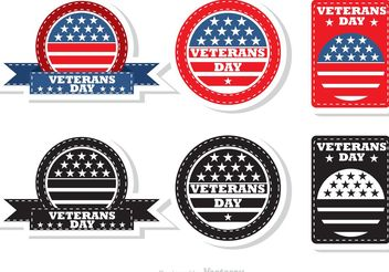 Veteran's Day Badges - Free vector #162497