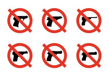 No Weapons Signs - vector #162507 gratis