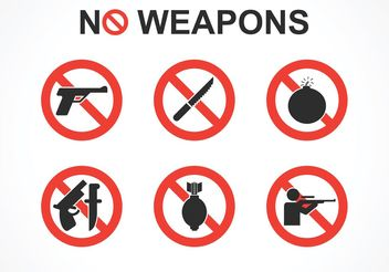 Free No Weapons Vector Signs - vector gratuit #162527
