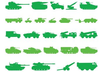 Tank Silhouettes - Free vector #162547