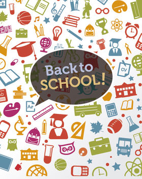 Back to school icons background - vector #162587 gratis