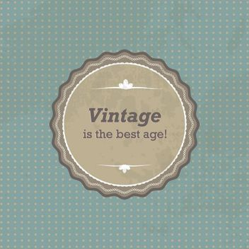 Vintage Round Sign Dotted Background - vector #162657 gratis