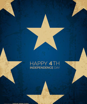 Happy 4th starred design - vector #162727 gratis