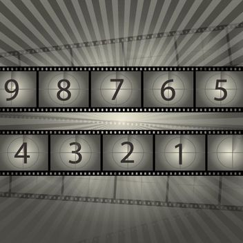 Retro Influenced Film Reel Countdown - vector gratuit #162757