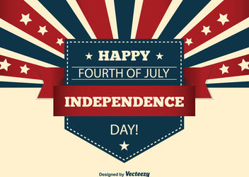 Creative USA Independence Day Card - Kostenloses vector #162857