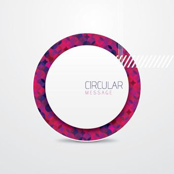Polygonal Circular Message Background - vector gratuit #162867