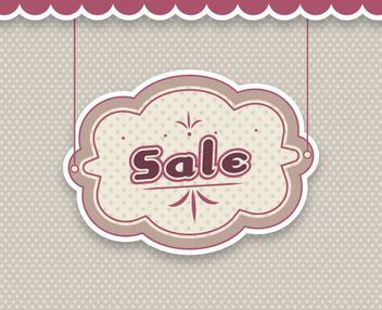 Hanging Cloud Sale Banner - Free vector #163007