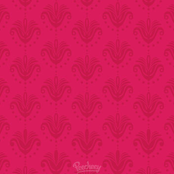 Abstract Vintage Floral Pinkish Pattern - Free vector #163047