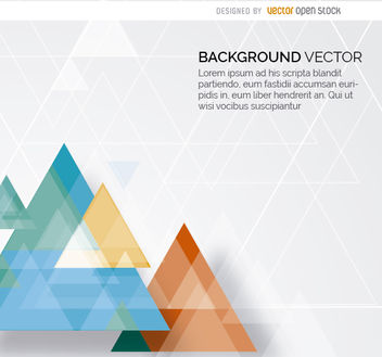 Abstract triangles background - vector gratuit #163107