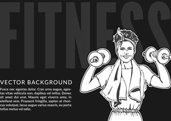 Women's Fitness Sketchy Banner - Free vector #163167