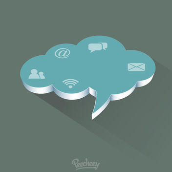Minimal Communication Cloud Concept - бесплатный vector #163187