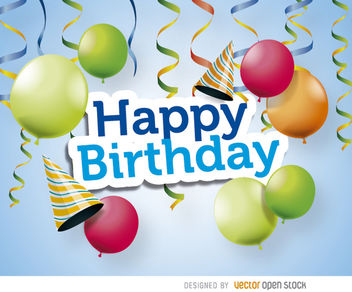 Happy Birthday celebration - vector gratuit #163207