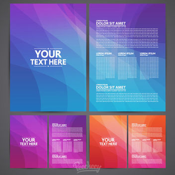 Colorful Two Folds Brochure Pack - vector gratuit #163287