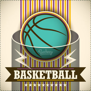 Vintage Basketball Poster Template - Free vector #163337
