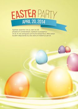 Beautiful Easter Poster Template - vector gratuit #163417