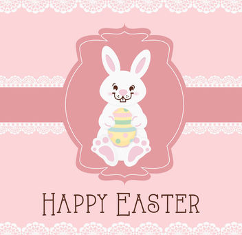 Sweet Easter Card Template - Kostenloses vector #163427