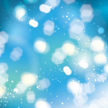 Bokeh Glares Shiny Blue Background - Kostenloses vector #163457