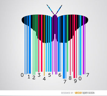 Codebar butterfly colorful - Free vector #163467