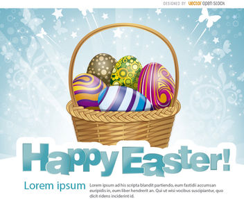 Easter eggs basket - Free vector #163487